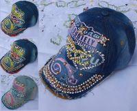 Cheap wholesale men and women fashion cap peak street hip-hop men's snapback baseball cap metal sequins hats free shipping