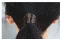 american rubber products - Good product Wig decoration Hair band Imitation Alloy Metal Ribbon Hair Rubber Band Elastic Woman Headwear Girl Hair Accessories
