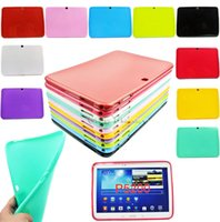 Wholesale TPU Silicone Rubber Case Cover For SAMSUNG Galaxy Tab quot inch Tablet P5200 P5210 protector Slim
