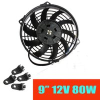 Wholesale 2015 New Inch Universal V W Slim Reversible Electric Radiator Cooling Fan Push Pull With mounting kit order lt no track