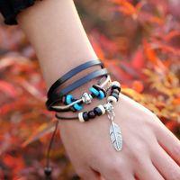Wholesale Infinity Bracelets Slake Bracelets Multi Colors Leather For Women Men Bracelet Hot Sale Valentines Day Gifts