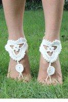 Wholesale Floral Crochet Barefoot Sandals LC00029 FG1511