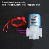 Wholesale AC V Short tube Normally Closed Electric Solenoid Valve Water Air Flow Switch