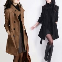 Cheap Free Shipping-SG687-2014 Autumn And Winter Slim Medium-long Plus Size Thickening Overcoat Manteau Women Abrigo De Invierno