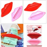 Wholesale 2 x Bathroom Plastic Lip Tube Squeeze Out Facial Foam Toothpaste Dispenser Extract Different Colors