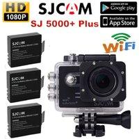 Wholesale 2015 New Arrival Hot Sale Black Gopro Camera Camara Deportiva Sjcam Sj5000 Plus Ambarella A7ls75 p Wifi Sports Action Camera Batteries