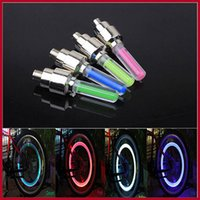 bicycle led spoke lights - New Mix Color Bike Bicycle Car Wheel Tire Valve Cap Spoke Neon Flash LED Lights Lamp
