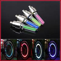 Wholesale New Mix Color Bike Bicycle Car Wheel Tire Valve Cap Spoke Neon Flash LED Lights Lamp