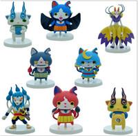 Wholesale 8pcs quot Yokai Watch Yo kai pvc Toys Figures Dolls Jibanyan Whisper Koma san Uisuba Ghost
