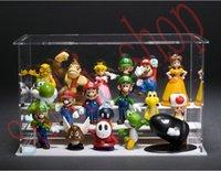 Cheap Wholesale Retail plastic Super Mario Bros Toys Dolls 18pcs set by free shipping worldwide