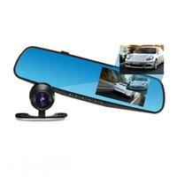 """Cheap HD 1080P Dual Lens Car DVR Rear View Mirror Dash Camera 4.3"""" 170 Degree View"""
