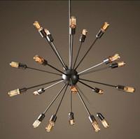 85-265V wrought iron - Satellite chandeliers Vintage wrought iron pendant light Spherical Spider lamp Edison pendant lighting