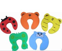 safety baby - 100Pcs Child Baby Animal Cartoon Jammers Stop Door Stopper Holder Lock Safety Guard
