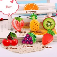 Wholesale New Arrival Fruit Cherry Planar Resin Crafts Flatback Flat Back Resin Cabochons Girls Hair Jewelry Decoration Craft