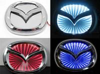 automotive lighting logo - 3D Waterproof Car Badge Lamp Fitting Mazda CX7 Rear Logo Emblem LED Light Blue Red Sky Blue Cool Car Sticker Automotive Decoration Gea
