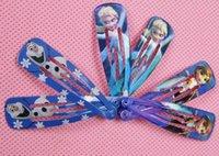 Wholesale 2014 Children Accessories Frozen Anna Elsa Princess Hairpin Clip Hair Ornament Accessories BB Clamp Clip Children Hair Barrettes