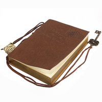Wholesale 2015 Notebook Paper White Notepad Book Leather Fashion Notebooks Key Design Elegant Fashion Multipurpose Notepads