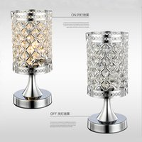 Wholesale Modern Small crystal Table lamps brief bedroom bedside desk lamp crystal table light K9 Crystal night light silver golden