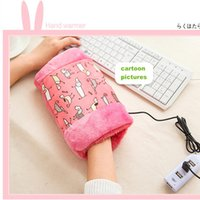 electric water heater - New Portable USB Electric Hand Warmer No Water Fast Desktop Heater W V USB Chargeable Plush Warm Bags with Nano Heater Slice