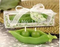 Wholesale x wedding favor Two Peas in a Pod Candle in Ivy Print Gift Box wedding gift