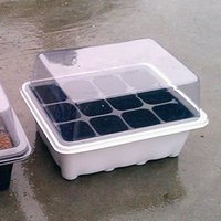 Wholesale nursery trays lids holes Nursery Pots Plant Seeds Grow Box Tray Insert Propagation Seeding Case Flower pot