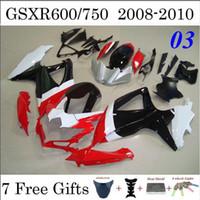 Wholesale GSXR600 GSXR750 Injection ABS Fairings For Suzuki GSXR Motorcycle Cowling Set Custom Design Body