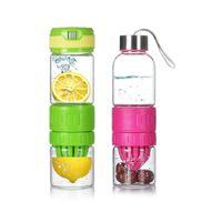 glass water bottle - 2015 Best Selling water bottle hidden Tisheng nd generation magic glass cup portable energy lemon cup B1088