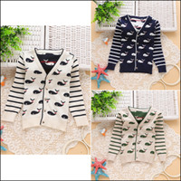 Wholesale 2015 boys fashion Cartoon Sweaters Y kids cute Autumn clothes Children s pure cotton Coat kids cardigan MOQ SVS0477