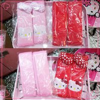 Wholesale 2014NEW Hello Kitty Auto Car Seat Belt Shoulder Pads Safety Belt Pads Color Pink Red Super Cute Car Decoration Children Favorite Xmas Gift