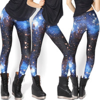 Wholesale 2015 for Pregnant Women Europe And The United States Star Digital Printing Leggings Female Blue Galaxy of Milky Way Nine Minutes of Pants