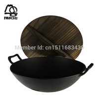Wholesale Shopping Southern rock cast iron pot Japanese Chinese deep type of Chinese wok wok pan cm large the SF