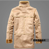 air force hair - Fall Men s clothing of sell like hot cakes brand coat air force leather add hair thick fur coat
