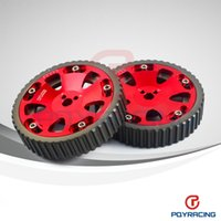 Wholesale PQY STORE Cam Gears Pulley For MITSUBISHI EVO ECLIPSE DSM G63 RED PQY6538R