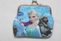 Wholesale Frozen Coin Purse with iron button Anna Elsa Olaf money bag Snow Queen wallet children child Gifts