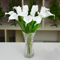 Wholesale New Beautiful Calla Wedding Bouque Flowers PU Real Touch Colors Christmas Party Table Decoration Bouquet Artifical Simulation Flowers