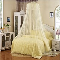 Wholesale Elegant White Lace Bed Canopy Netting Dome Mosquito Net