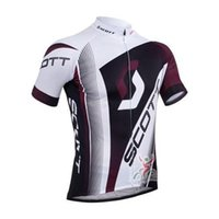 Wholesale scott team men s cycling Jersey sets with short sleeve bike shirt bib padded short in cycling clothing breathable bicycle jersey wear