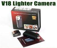 Wholesale HD P Mini DV Lighter Hidden Camera DVR P USB U Disk Flashlight Spy Lighter Camera V18 Real Lighter