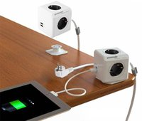 Wholesale Smart Home Allocacoc Extended PowerCube Socket EU DE Plug Outlets USB Ports Adapter with m Cable Power Strip