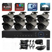 Wholesale 8CH D1 TVL CCTV DVR Kit IR Color Waterproof Security Cameras System mm