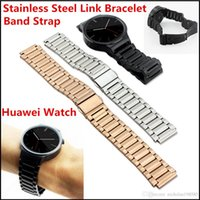 Wholesale Huawei Smart Watche Band Luxury Stainless Steel Link Bracelet Band Strap with Lugs Spring Bar For Huawei Smart Watch PK Apple Samsung watch