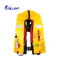 Safety Clothing used boats - Inflatable Boat Fishing Life Jacket Swimwear Working Vest Survival Suit for Outdoor Sport Swimming Adult And Child All Can Use ALY