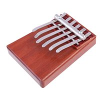 Wholesale D1U Portable Key Kalimba Mbira Likembe Sanza Finger Thumb Piano Rosewood Musical Instrument Pocket Piano Gifts