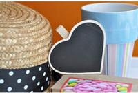 Wholesale Hot Wooden Blackboard Clip Lovely chalkboard clips Heart Shape Memo clip
