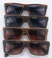 bamboo sun shades - 10 Retro Sunglasses Oversized Vintage Shades Women Men Polarized Lenses Cool wooden Sun Glasses Bamboo Round Case