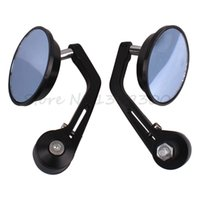 Wholesale 2X inch Motorcycle Motorbike Bar End Rearview Mirror Rrounded order lt no track