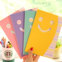 Wholesale 2015 cute notebook kawaii paper notes notepad candy color smile face animal stationery for kids children students adult office