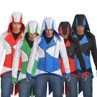Wholesale Anime Assassins Creed Hooded Coat Men Jacket Conner Kenway Cosplay Outwear Daily Wear Costume Adult Gifts