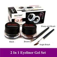 Wholesale Hot Mix Sale Black Brown Color Eye liner Gel Makeup Eye Liner Cream Long Wear Cosmetic Liner Gel Gift FreeShipping