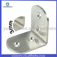 corner bracket - DHL mm Broaden Stainless Steel Corner Brace Furniture Fittings Metal Bracket Shelf Bracket